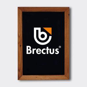 Brectus Tavle med treramme