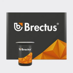 Brectus Messevegg rett med paneler