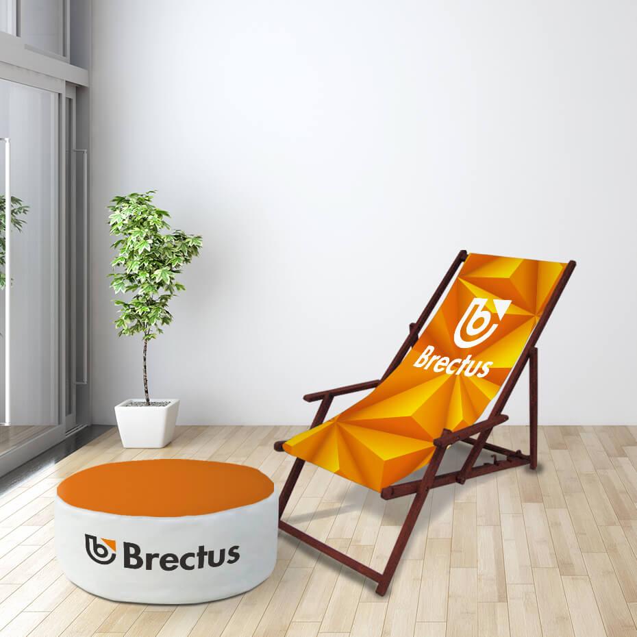 Brectus Wooden Deckchair
