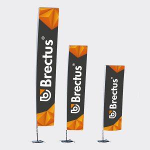 Brectus Beachflagg Firkantet