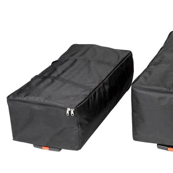 Messevegg rett med paneler transportbag